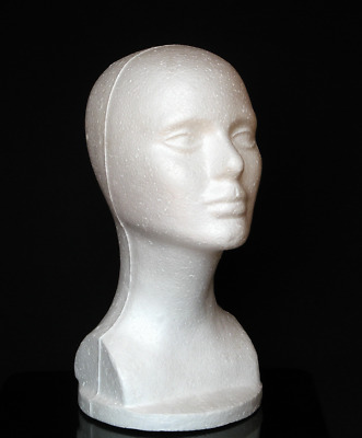 Durable Polystyrene Foam Mannequin Display for Wig Hat Glasses Head Accessory