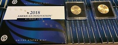 2018-S American Innovation $1 Proof Coin (OGP/COA) + P & D in airtites