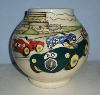 Superb MOORCROFT Vintage Motor Racing Vase - GRACE AND PACE by Kerry Goodwin