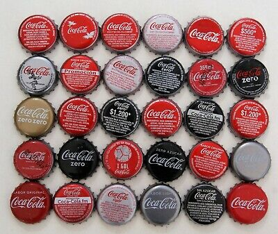 LOTE X 30 COCA-COLA  COLOMBIA and SPAIN - L1 bottle caps chapas - COCA COLA COKE
