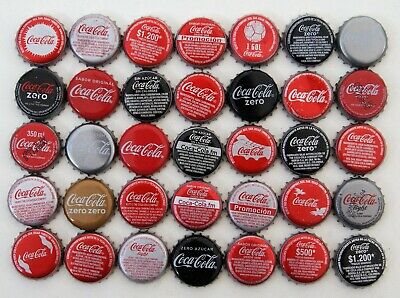 LOT X 35 COCA-COLA bottle caps COLOMBIA and SPAIN - L1 COCA COLA COKE