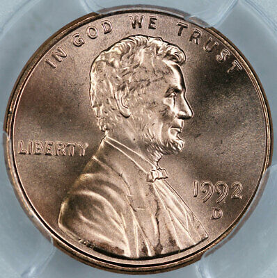 1992-D PCGS MS67RD Lincoln Cent