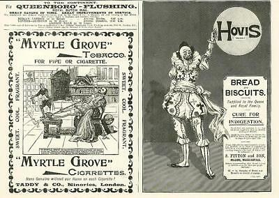 1896  Antique Print - ADVERTISING Hovis Bread Biscuits Myrtle Grove Tobacco (29)