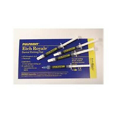 Pulpdent ER24 Etch Royale 37% Phosphoric Acid Gel Syringes Bulk 1.2 mL 24/Pk