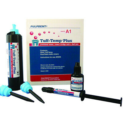 Pulpdent TTPA3 Tuff-Temp Plus Automix Veneer Crown Bridge Resin Cartridge Kit A3