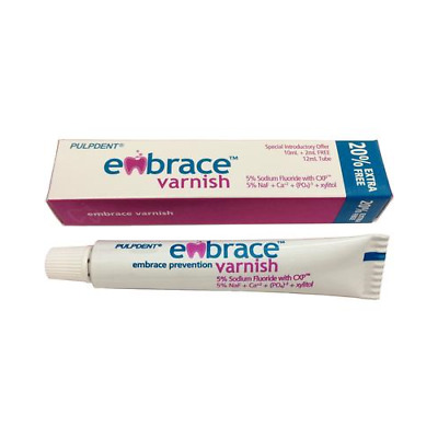 Pulpdent FVT Embrace Dental Varnish Fluoride CXP Tube 5% Bubblegum 12 mL