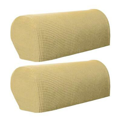 2 Pieces Armrest Cover Stretch Furniture Protector Armchair Slipcovers