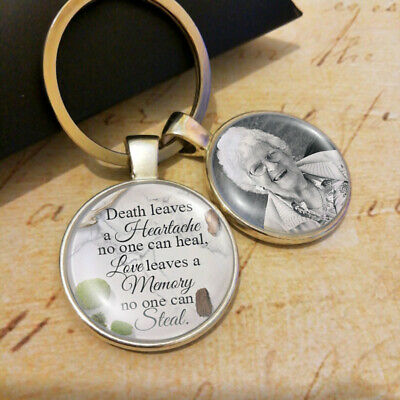 Personalised Photo In Memory Wedding Bouquet Charm Loss of Pet or Loved Keyring