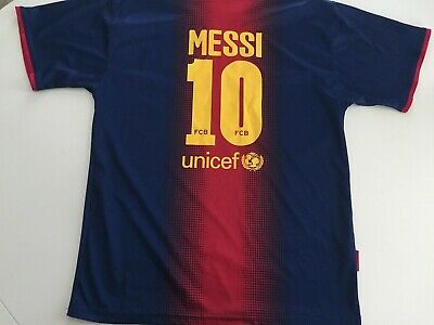 official photos 9945b 2bdf2 YOUTH FC BARCELONA FCB Lionel Messi Soccer Jersey SIZE 14 Youth XL