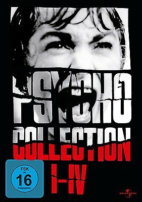 Hitchcock Psycho 1 2 3 4 Collection Anthony Perkins 4 DVD Box