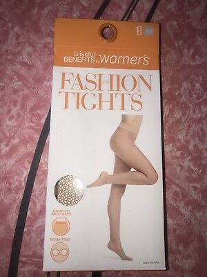 68130d6134df WARNER'S FASHION TIGHTS ~ Women's Textured Blissful Benefits Hose Nude ~ S/M