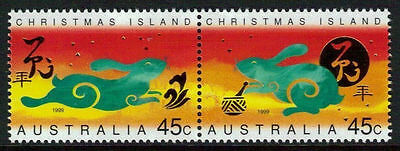 Christmas Island 1999 Year of the Rabbit  MNH