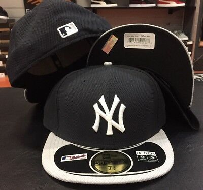huge selection of f391b 05282 New Era Cap 59FIFTY New York Yankees Hat Fitted 5950 Diamond ERA navy Grey  Road