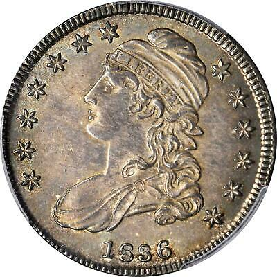 1836 Capped Bust Half Dollar Lettered Edge O-113 Rarity-2 MS-64 (PCGS) Rare Coin
