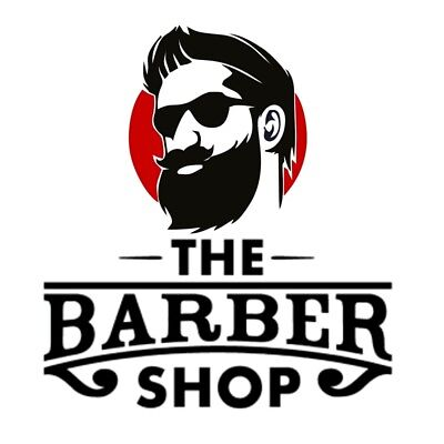 Barber Shop Window Stickers Front Signs Decal Salon Modern Hairdresser Gentleman