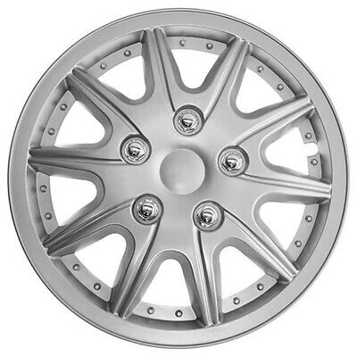 TopTech Revolution 15 Inch Wheel Trim Set Silver Set of 4 Hub Caps Covers