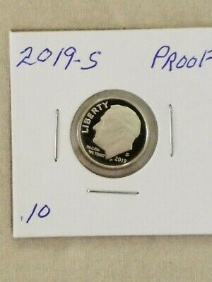 2019-S Proof Roosevelt Dime Clad Deep Cameo Proof In 2X2 Holder