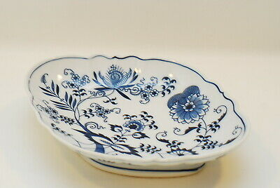 Blue Danube Onion Old Banner Footed Chinese Bowl 11.75 Inch