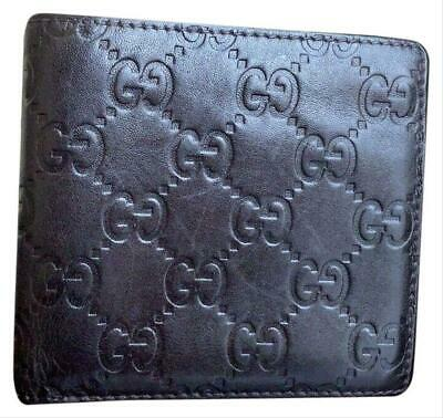 31f6c0e3569b Authentic GUCCI GUCCISSIMA Mens Dark Chocolate Leather Bifold COIN POUCH  Wallet