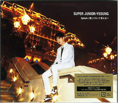 Super Junior-Yesung-Splash / Aishiteru Tte Ienai-Japan Cd+Dvd D86