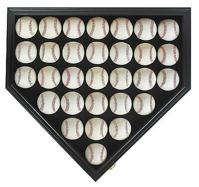 30 Baseball Display Case Cabinet Shadow Box, UV Protection door