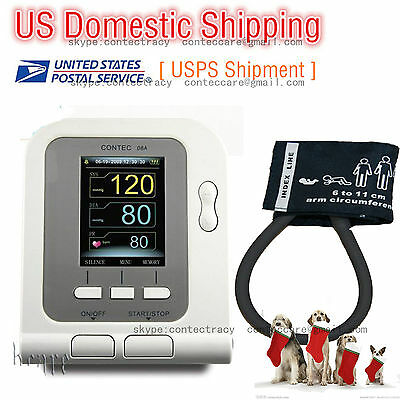 FDA Digital Veterinary Blood Pressure Monitor+6-11cm Cuff VET HR/NIBP Monitor,US