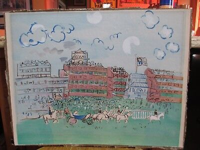 """After Raoul Dufy Lithographic Print Titled """"Ascot"""""""