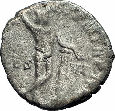 COMMODUS Marcus Aurelius son Ancient 190AD Silver Roman Coin Nude APOLLO i76236