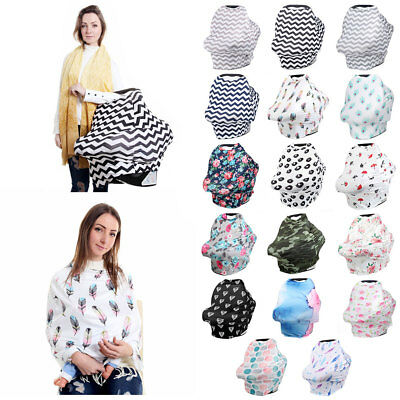 Multifunctional Nursing Baby Car Geometric Cover Floral Printing Swaddle Blanket