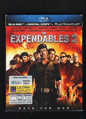 The Expendables 2 (Blu-ray Disc, 2012, no digital or ultraviolet) free shipping