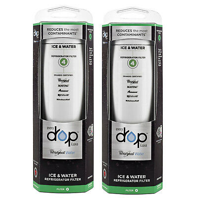 2PACKs Genuine Whirlpool EDR4RXD1 EveryDrop 4 UKF8001 4396395 Ice & Water Filter