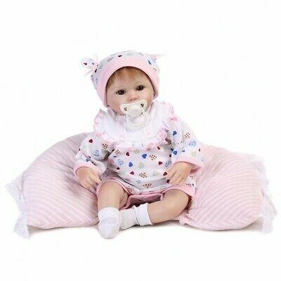 Real Life Baby Reborn Dolls Realistic 45cm 18'' Soft Silicone Newborn Doll Gifts