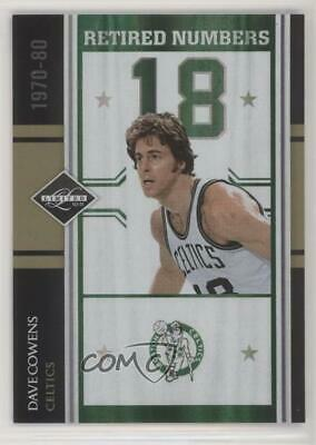 56fd50b7c 2010 Limited Retired Numbers Spotlight Gold  19 Dave Cowens Boston Celtics  Card