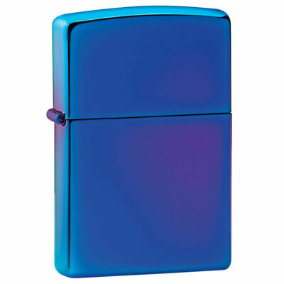 Zippo Windproof High Polished Indigo Lighter, Blueish Purple, 29899, New In Box