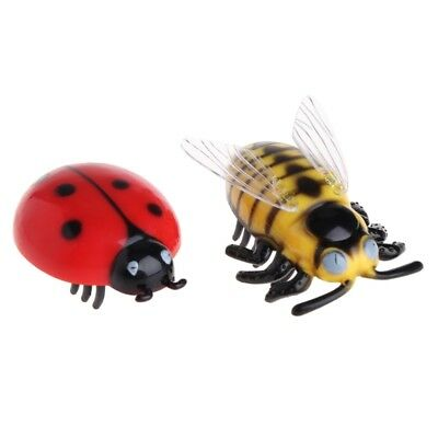 Cat Toy Teaser Interactive Pet Beetle Cicada Auto Electric Walking Insect Gift