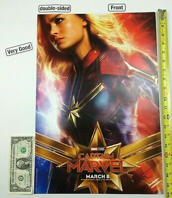Captain Marvel / Goose 2-Sided 13.5 x 20 Poster Brie Larson Chewie