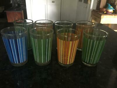 Vintage/Retro Harlequin  Drinking Glasses (8)  ( Rare) - Collectable