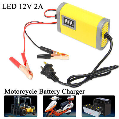 DC 12V 2A Voitutre Auto Moto Intelligent Automatique Batterie Chargeur Charge