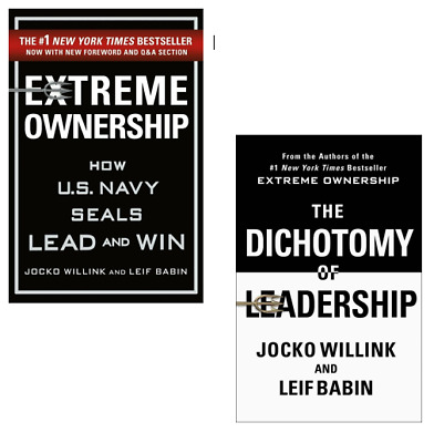 Extreme Ownership and The Dichotomy of Leadership NEW 2 Books Set Jocko Willink