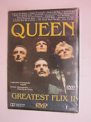 Queen : Greatest Flix II (DVD, 2003) BRAND NEW     FACTORY SEALED   FREE SHIPPIN