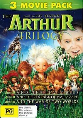 Arthur And The Invisibles Trilogy : 1-2:Maltazard -3:War Of Two Worlds : NEW DVD