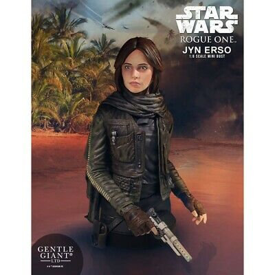 Gentle Giant Star Wars Jyn Erso Seal Commander Mini Bust New With Free Delivery!