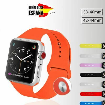 Correa Pulsera Apple Watch 38Mm 42Mm 40Mm 44Mm Silicona Iwatch Recambio Colores
