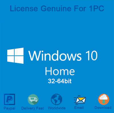 Windows 10 Home 32/64 Bit Product Key with Download Activation Genuine