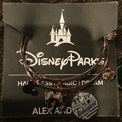 NWT Disney Parks Alex & Ani Fantasyland Carousel Rosegold Double Bangle Bracelet