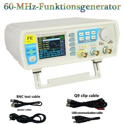 FY6800-60M DDS Function Signal Generator Dual-Channel Pulse Arbiträrgeneratoren
