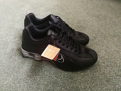 Nike Shox R4 Black And Metallic Silver Men s Trainers Size Uk11 New With Box 064462bfc