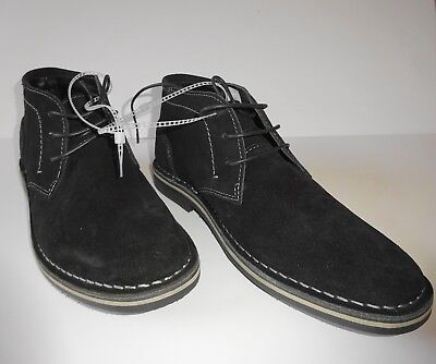 289a28e01e0 NEW Steve Madden Mens Hacksaw Chukka Boot Black Suede Leather Size 10.5 D  (M)