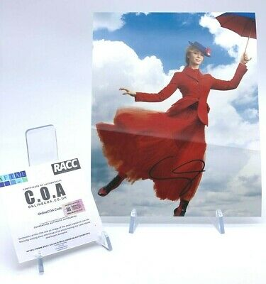 EMILY BLUNT Signed 10x8 Photo MARY POPPINS AFTAL OnlineCOA