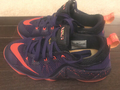 c292536276a NIKE LEBRON XII 12 Low Purple Crimson 744547-565 Boys Size 5Y ...